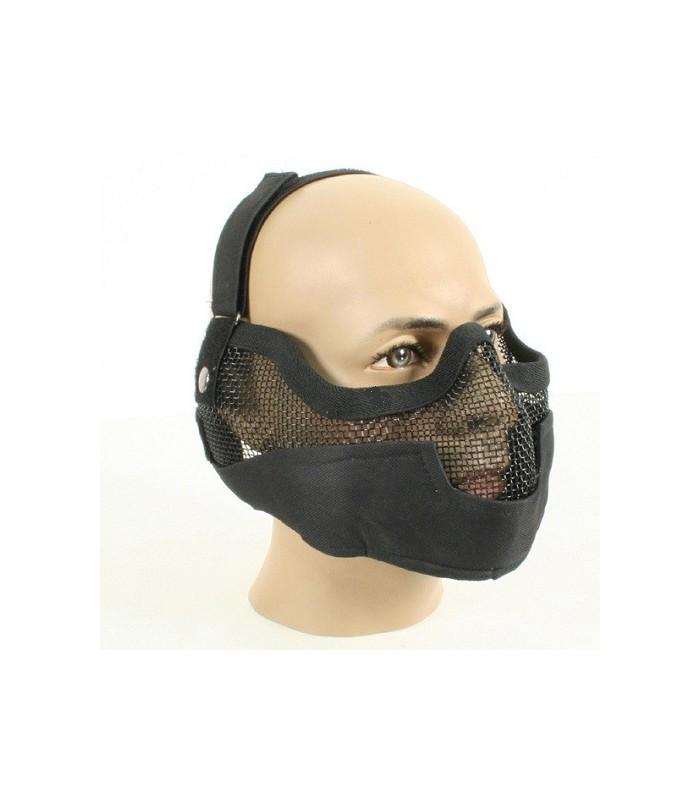 Mesh Masker Groot Zwart
