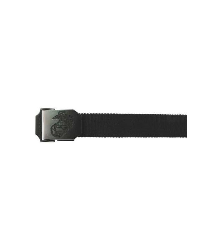 Riem USMC stijl 35mm Zwart met metalen sluiting