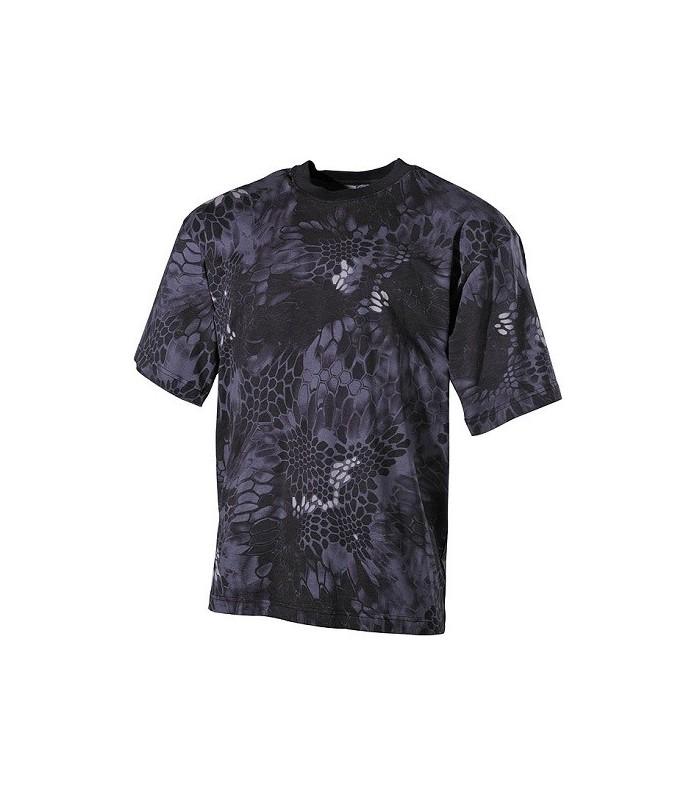 T-shirt US style Kryptec Mandrake Zwart