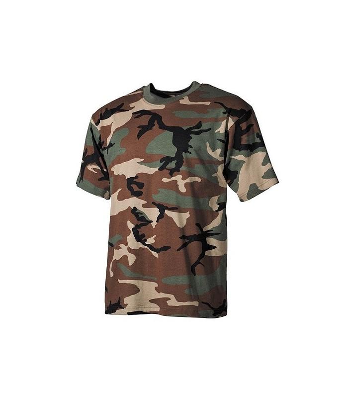 T-shirt US style Woodland