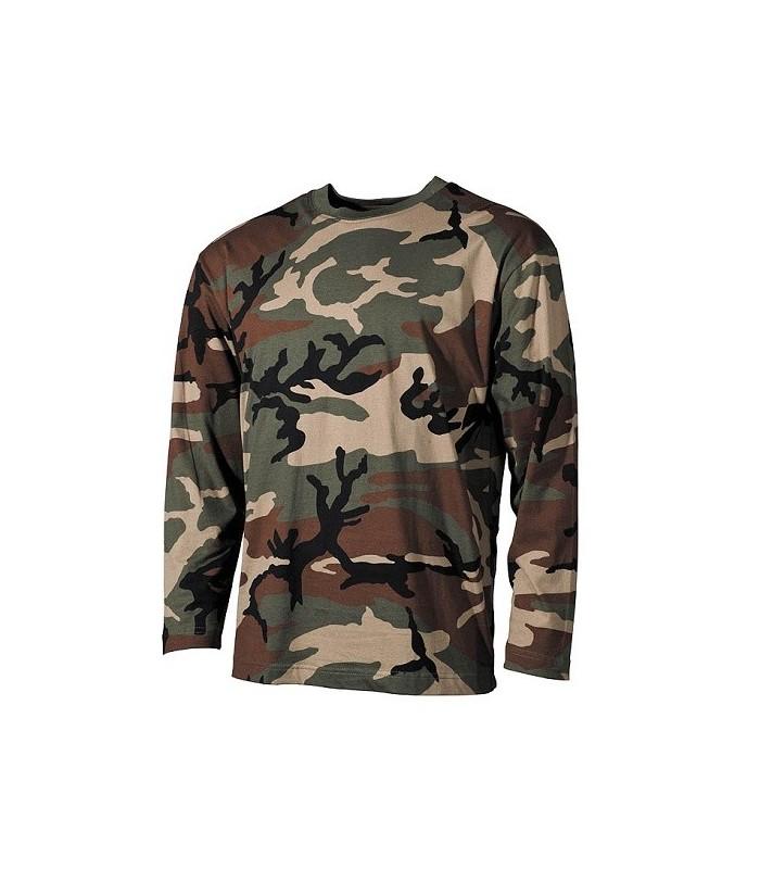 T-shirt US style Woodland lange mouwen