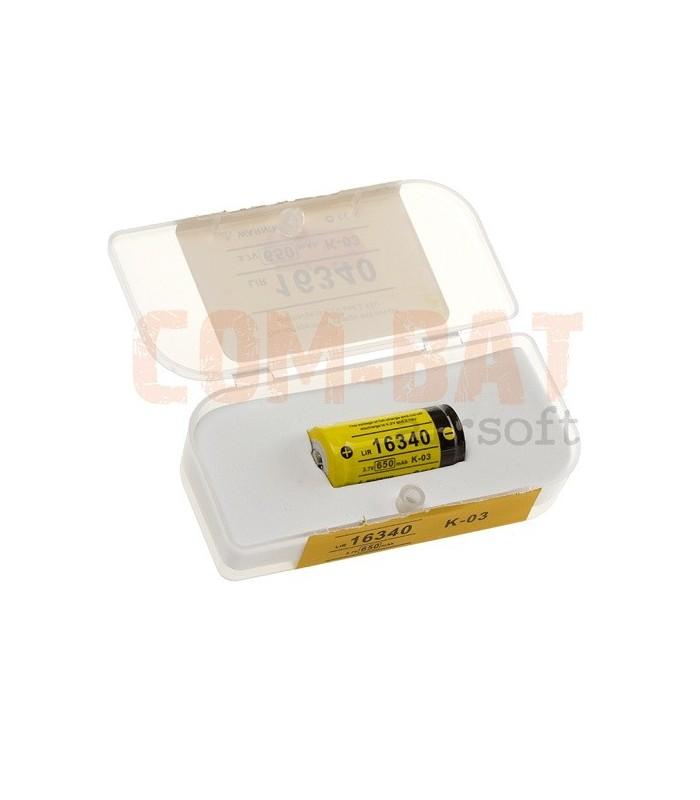 16340 Lipo Batterij 3,7V 650mAh