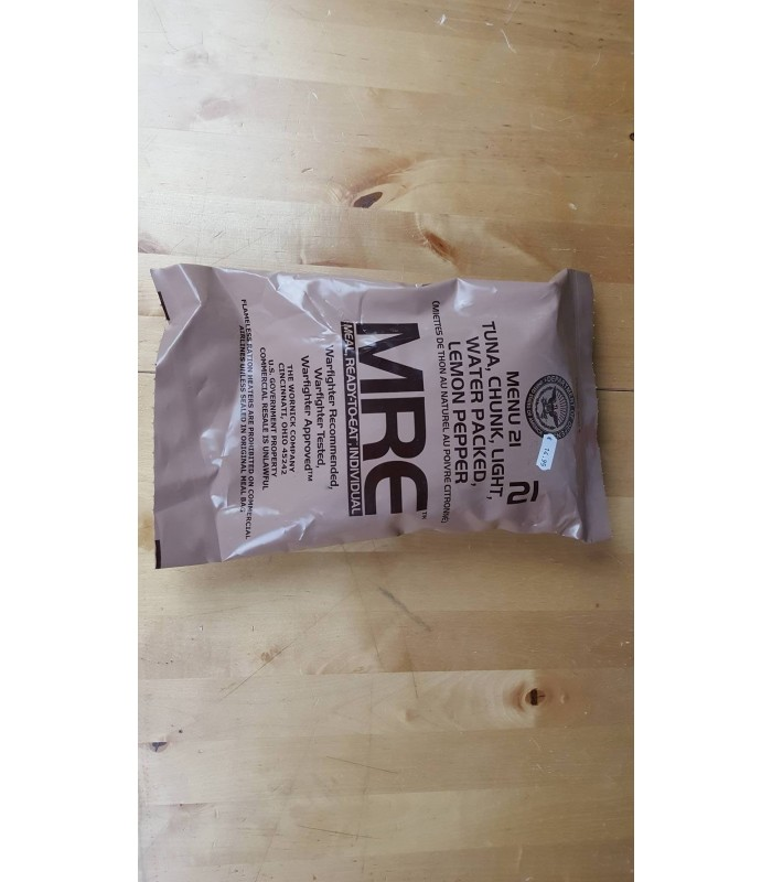 MRE 2016 Menu 21 - Lemon Pepper Tuna