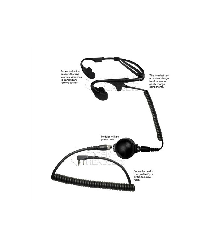 Code Red Battle Zero Bone Conducting Headset Kenwood Aansluiting
