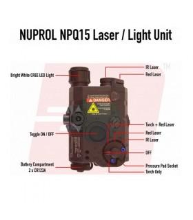 NPQ15 Nuprol PEQ Box Zwart met werkende laser (rood en IR) en led lamp