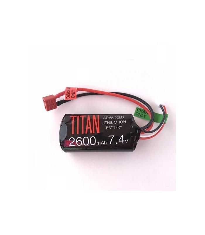 Titan 2600mah 7.4v Brick Deans