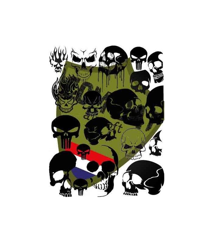 Skulls Paint Stencil 28x39cm