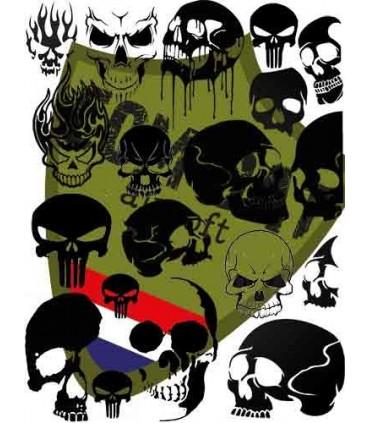Skulls Paint Stencil 28x28cm